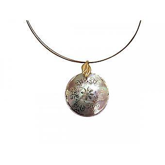 Medallion gold Lady kaulakoru kultaa huuli kullattu mitali