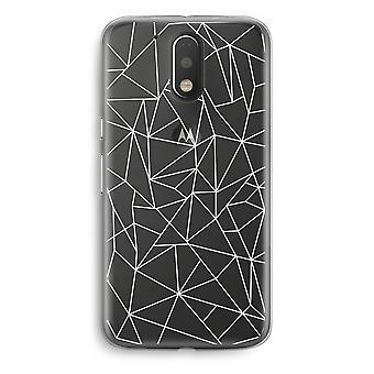 Motorola Moto G4/G4 Plus Transparent fodral (Soft) - geometriska linjer vit