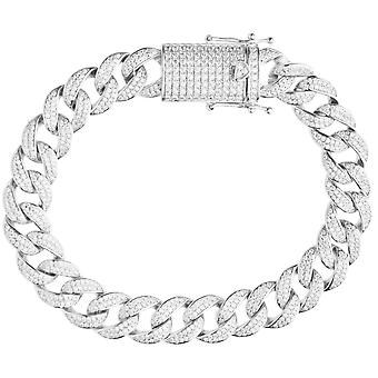 Premium Bling 925 sterling silverarmband - MIAMI CURB 12mm