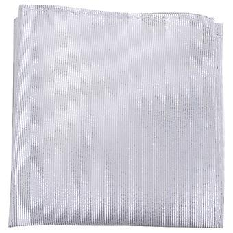 Knightsbridge neckwear bordázott selyem Pocket Square-ezüst
