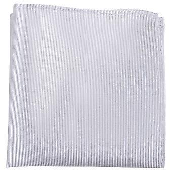 Knightsbridge dassen geribbelde zijde zak plein - zilver