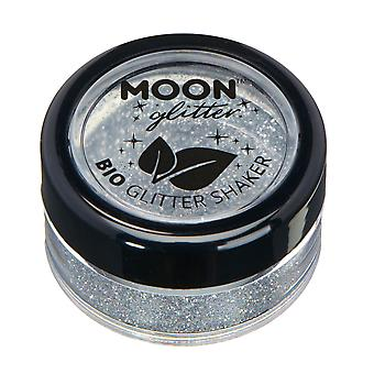 Biodegradable Eco Glitter Shakers by Moon Glitter - 100% Cosmetic Bio Glitter for Face, Body, Nails, Hair and Lips - 5g - Silver