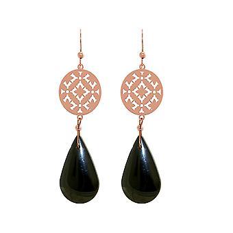Boucles d'oreilles GEMSHINE Pour femmes Mandalas Black Hematite. Argent, plaqué or ou rose