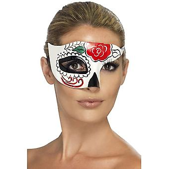 Smiffy's Day Of The Dead Half Eye Mask,