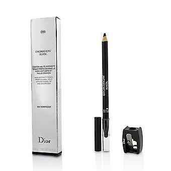 Christian Dior Diorshow Khol lyijykynä vedenpitävällä teroitin - # 099 musta Khol - 1.4g/0.04oz