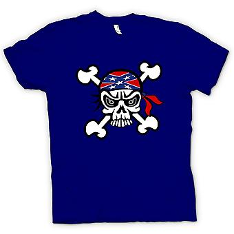 Mens T-shirt-Skull mit Bandana & Cross Bones