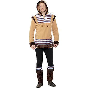 Inuit Eskimo barbati costum Carnavalul Arctic Man costum