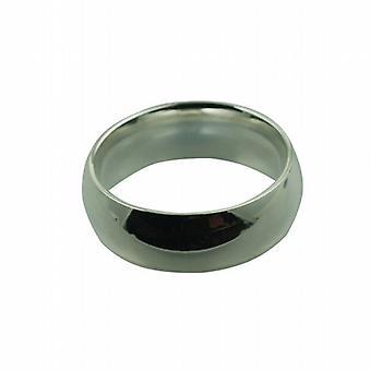 Sølv 8mm almindelig domstol Wedding Ring størrelse Z