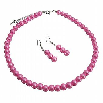 Wedding Direct Factory Price Hot Pink Jewelry Set