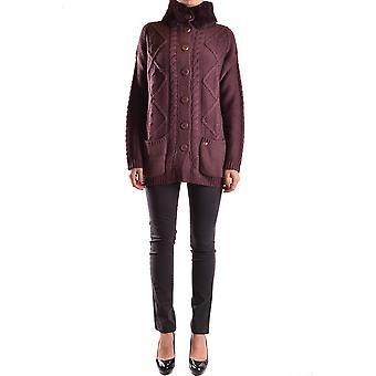 Liu Jo Ezbc086101 Women's Burgundy Wool Cardigan