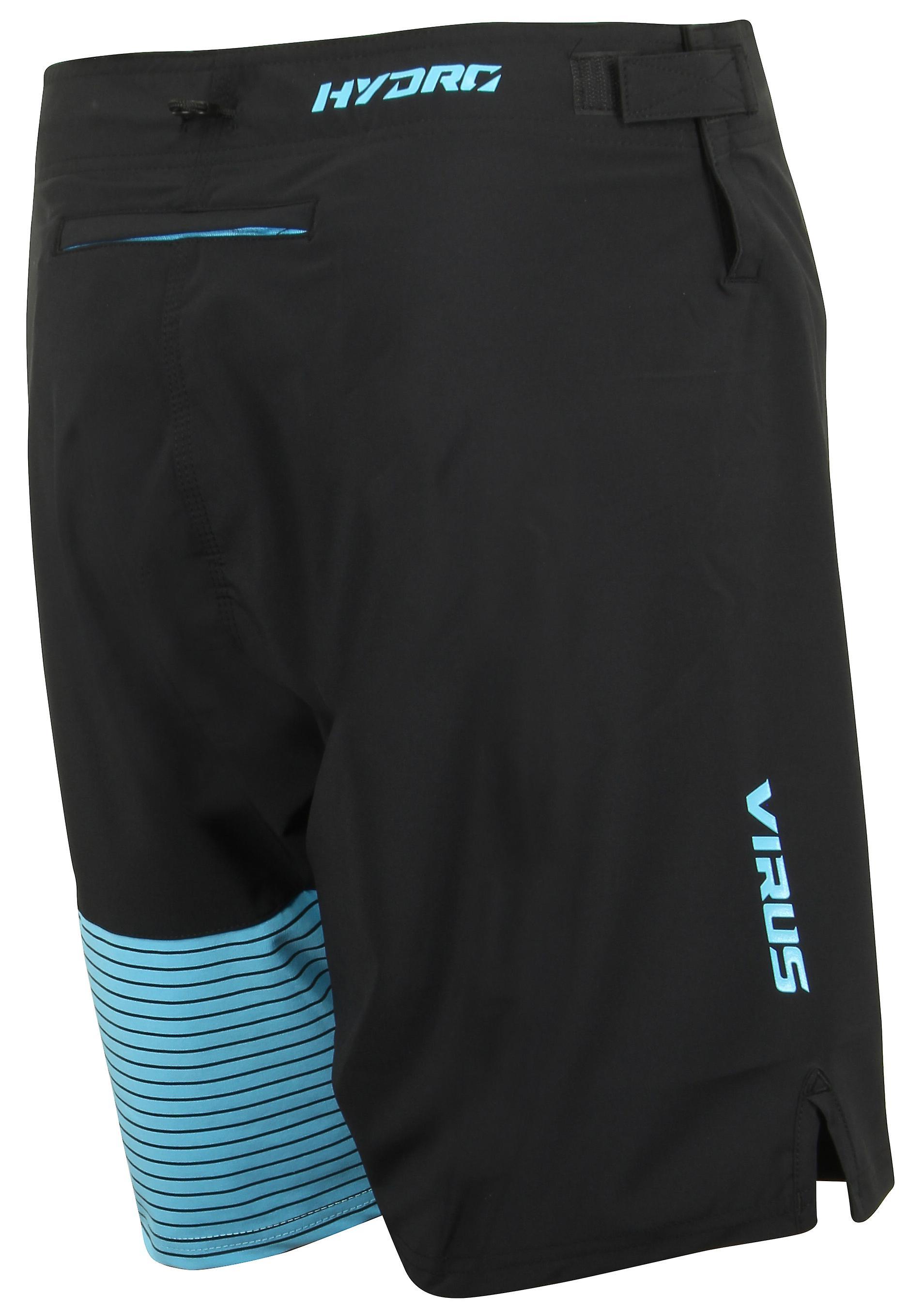 Virus Mens Hydro ST4 Performance Shorts - Black/Blue
