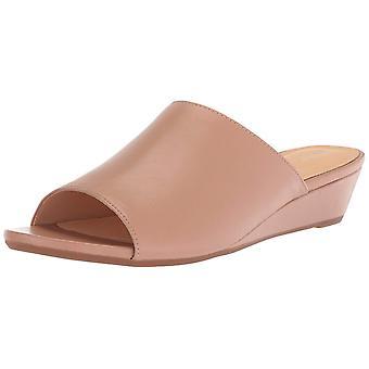 Clarks mujer Parram vals cuero abierto diapositiva Casual sandalias