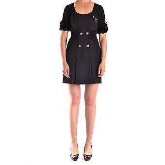 Frankie Morello Ezbc167032 Women's Black Wool Dress
