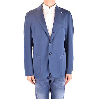 L.b.m. Ezbc215023 Men's Blue Cotton Blazer