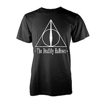 Miesten Harry Potter Deathly Hallows musta T-paita