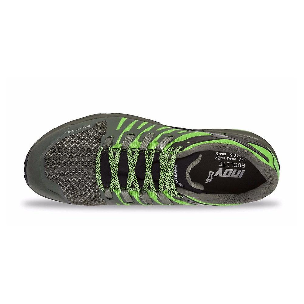 Inov8 Roclite 305 Mens Medium Fit Trail Running Shoes Green/black