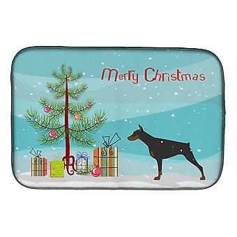 Dobermann Merry Christmas Tree Gericht Trocknung Matte