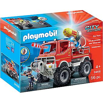 Playmobil 9466 City Action Fire Truck - Cable Winch and Foam Cannon
