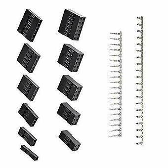 1420pcs JST Dupont 2.54 mm PH Connector kabinet kit med terminaler (sort)