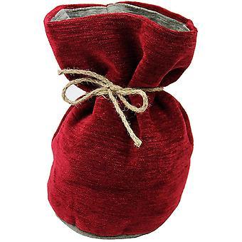 Mcalister textiles alston chenille red + grey door stop