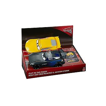 Disney Cars biler 3 race N flip (Cruz Ramirez & Jackson Storm)