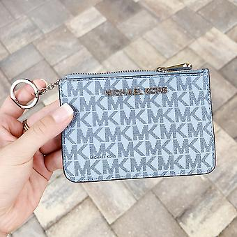 Michael kors jet set travel small top zip coin pouch id holder pale blue