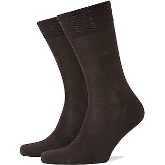 Burlington Dublin Socks - Dark Brown