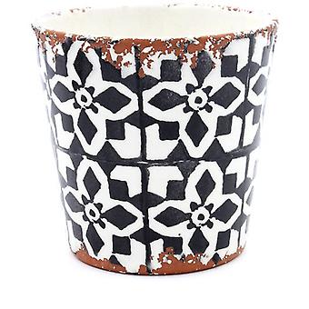 Eura Eura ceramic pot 14x12cm black (Decoration , Plants and pots)