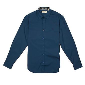 Burberry Cambridge Langarm Shirt Petrol Blau