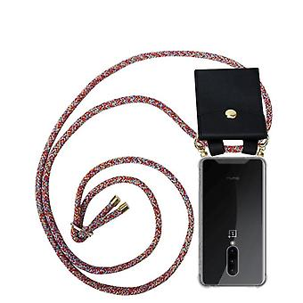 Cadorabo Cell Phone Chain Case for OnePlus 7 PRO Case Cover - Necklace ShoulderS Silicone with Cord Ribbon Cord and Removable Case Case Cover