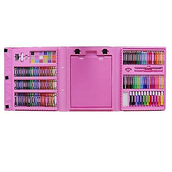 Children's coloring box, 176 parts-Pink