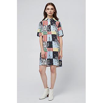 Louche Meira Patchwork Shirt Dress