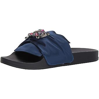 Kenneth Cole Reaction Womens Pool Jewel Fabric Open Toe Special Occasion Slide Sandals