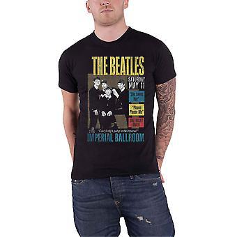 The Beatles T Shirt Live al Poster imperiale della sala da ballo nuovo ufficiale Mens Black