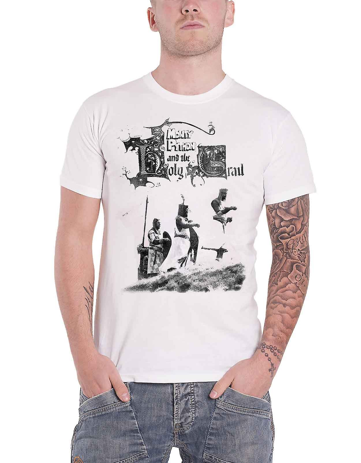 T-Shirt Monty Python /'Knight Riders/' Weiß