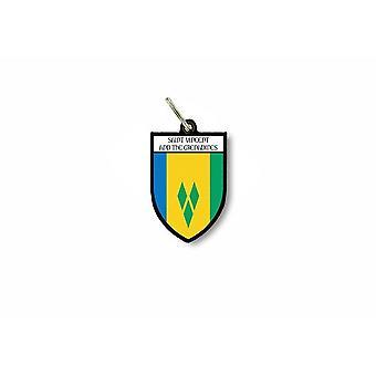 Schlüsseltür Schlüssel Flagge Sammlung Stadt Wappen Saint Vincent Grenadinen