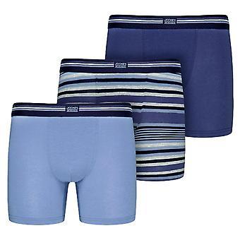Jockey USA Originals Cotton Stretch Boxer Trunk 3-Pack - Construct Blue