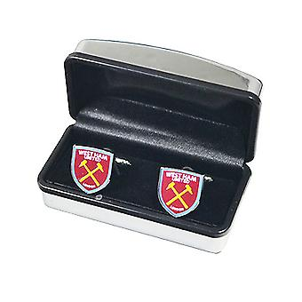 West Ham United FC Official Crest Cufflinks