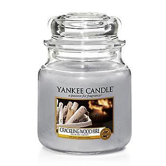 Yankee Candle Classic Medium Jar Crackling Wood Fire 411g