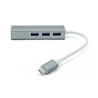 Dynamode USB-C Type-C to Gigabit & USB3 Dock Hub Grey/White (C-TC-LAN-HUB)