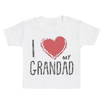 Ik hou van mijn opa rood hart Baby T-shirt