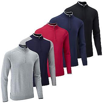 Stuburt Mens Vapour Casual Half Zip Sweater Lightweight Soft Golf Pullover
