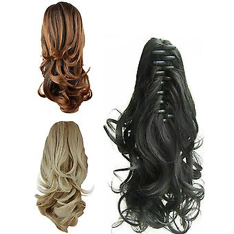 Hair Claw Curly Ponytail Medium Length 14 Inches Clip In Hair New