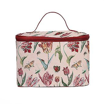 Marrel es Tulpe White Make-up Tasche von signare tapestry/toil-jmtwt