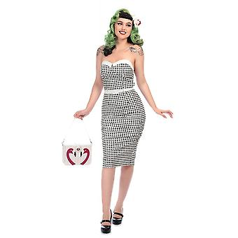 Collectif Vintage Monica Gingham Bleistift Kleid