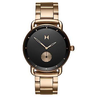 MvMT D-MR01-BRBL Watch - Steel Dor Rose Black Dial Men