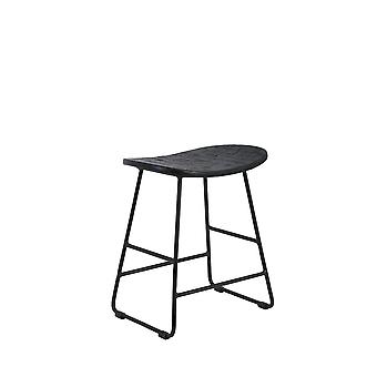 Light & Living Stool 40x29x47cm Tripas Wood-Mat Black