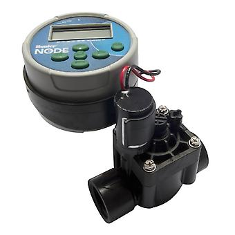 Hunter NODE 100 Valve, 1 station battery controller with PGV-101 valve and 9Volt solenoid