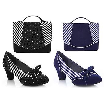 Ruby Shoo Women's Ophelia Court Shoe Pumps & Matching Belfast Bag