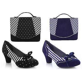 Ruby shoo Women ' s Ophelia Court sko pumpar & matchande Belfast Bag
